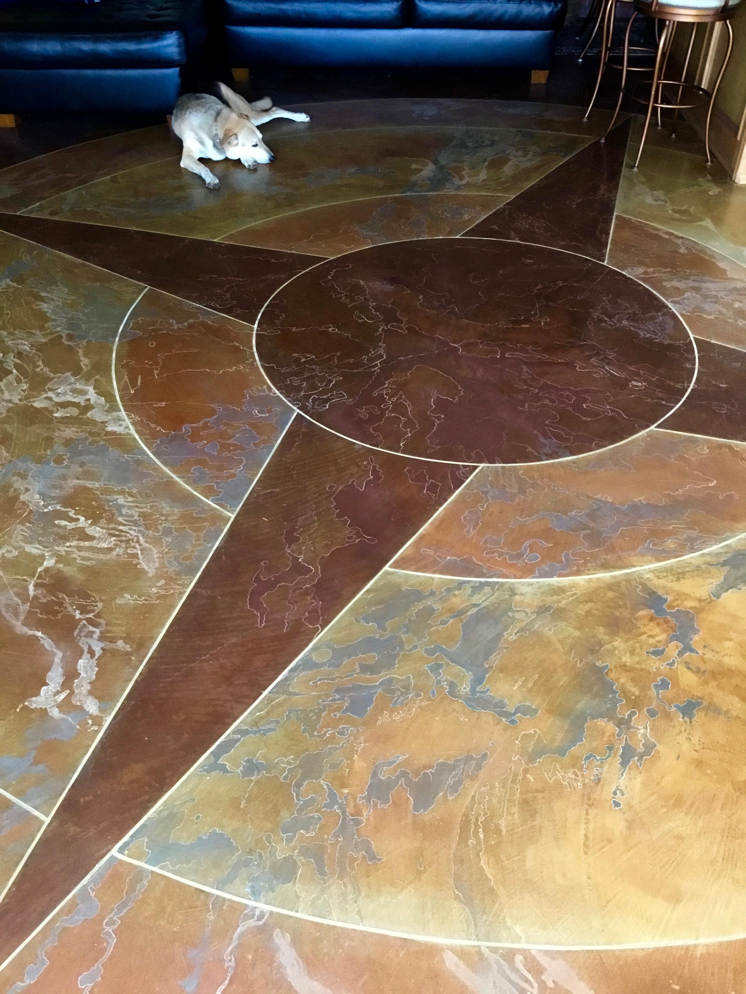 Decorative Concrete Base : Decorative concrete compass floor darin ward dward