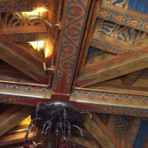 The Biltmore Santa Barbara, Four Seasons Resort - Ty Lounge ceilings, detail.