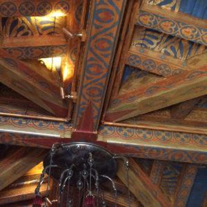 The Biltmore Santa Barbara, Four Seasons Resort - Ty Lounge ceilings, detail.